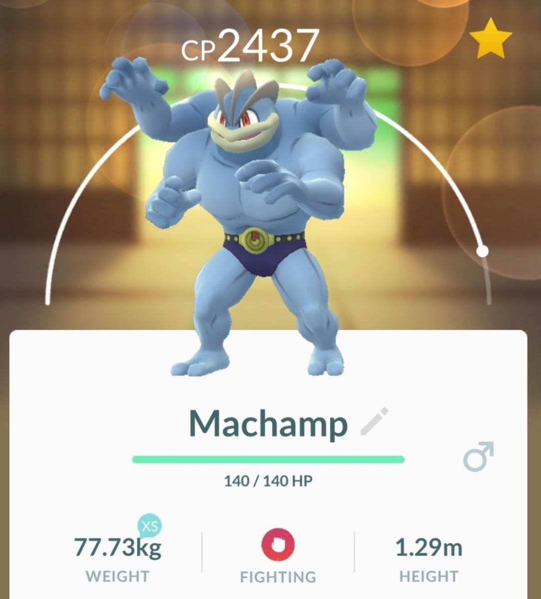 Machamp in Pokemon GO