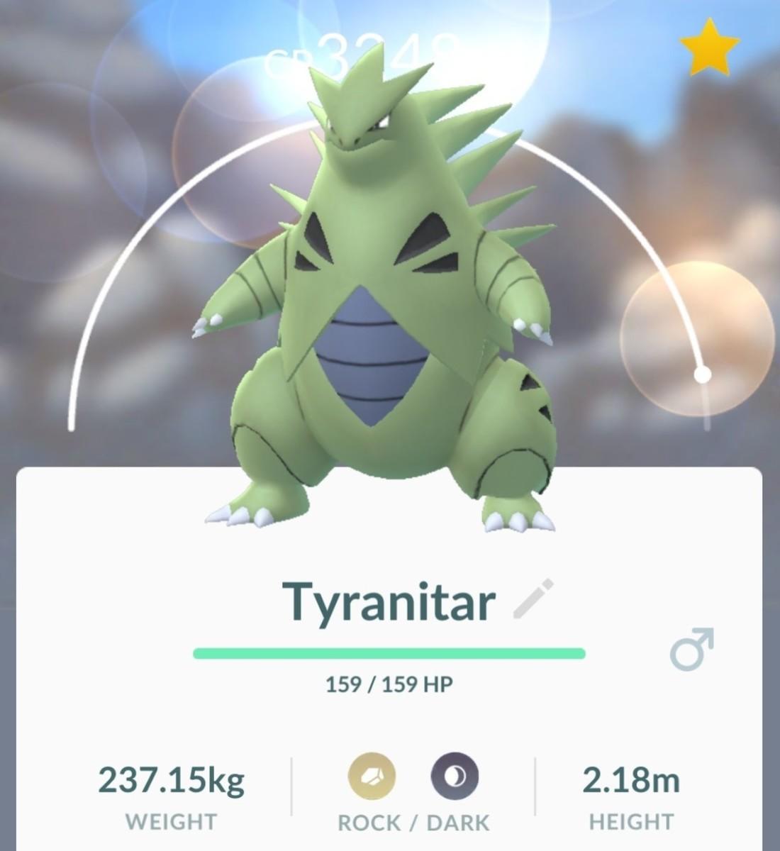 Tyranitar in Pokemon GO