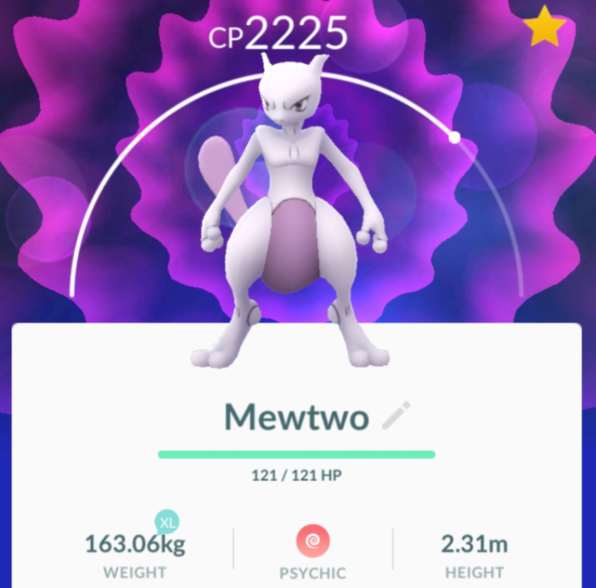 Mewtwo in Pokemon GO