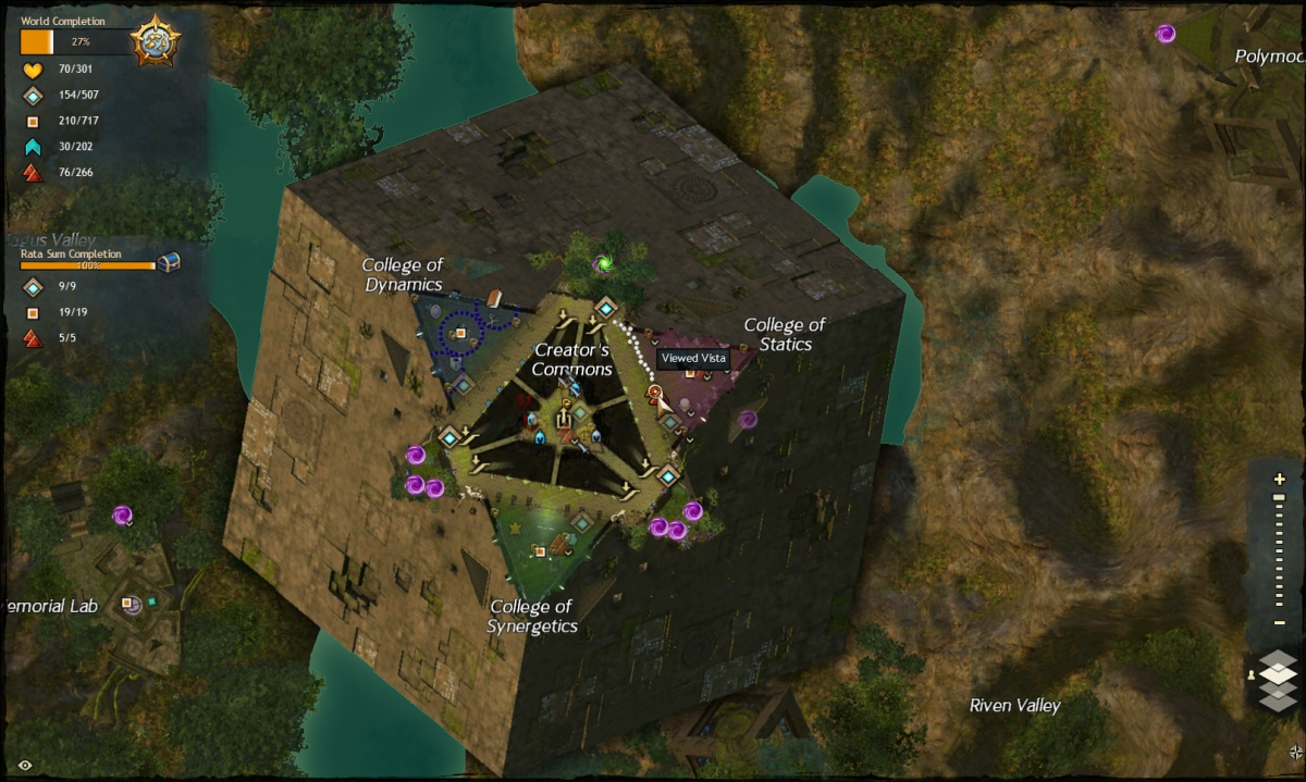 Map route to the Creator's Commons Vista
