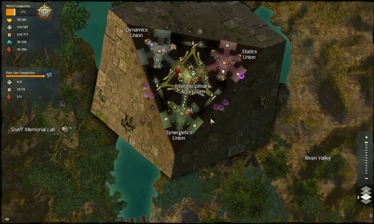 Map route to the Synergetics Union vista.