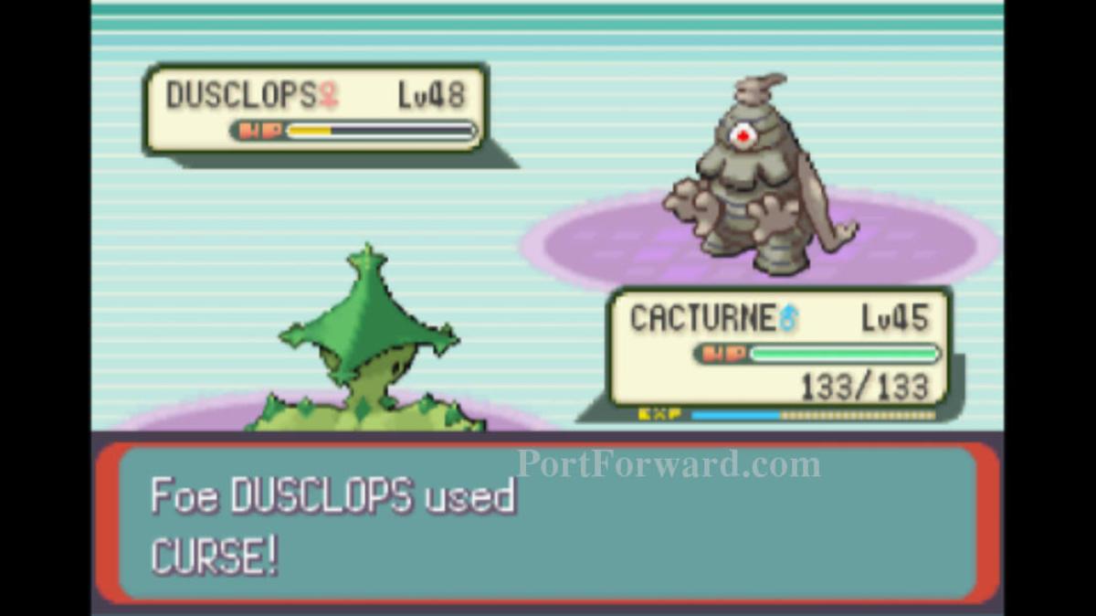 Dusclops using Curse