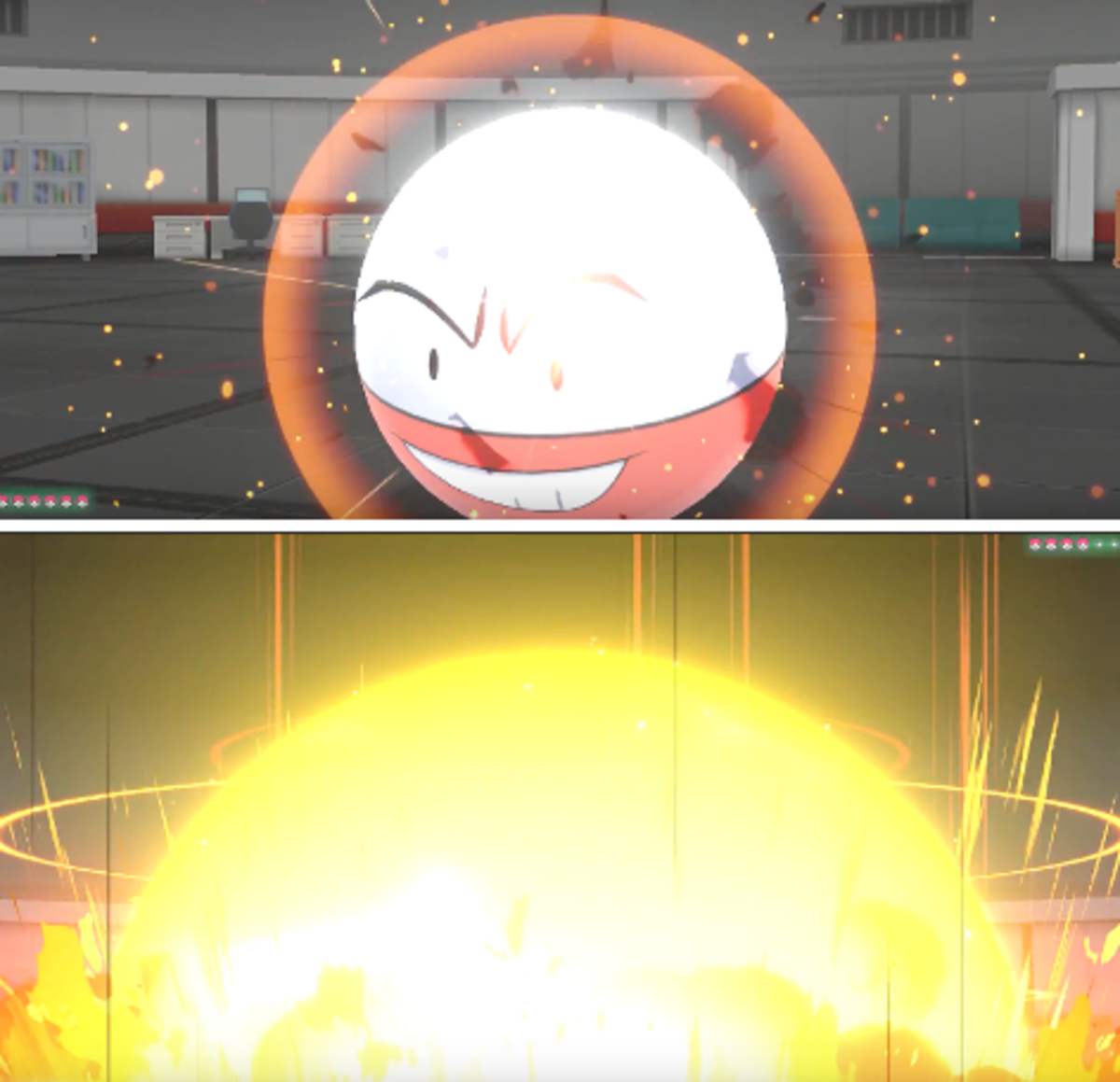 Electrode using Explosion