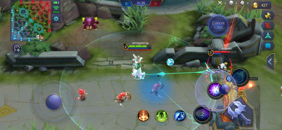 Aurora's Second Skill Locks on the Enemy Target
