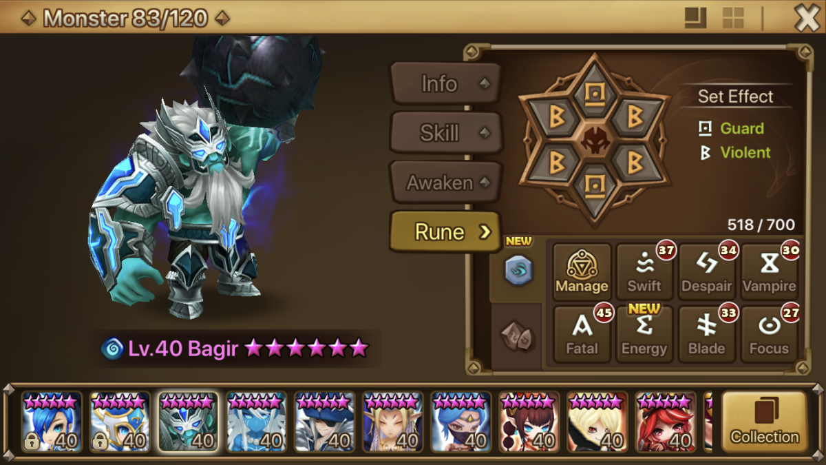 Bagir's special abilities can only be applied to a single target.