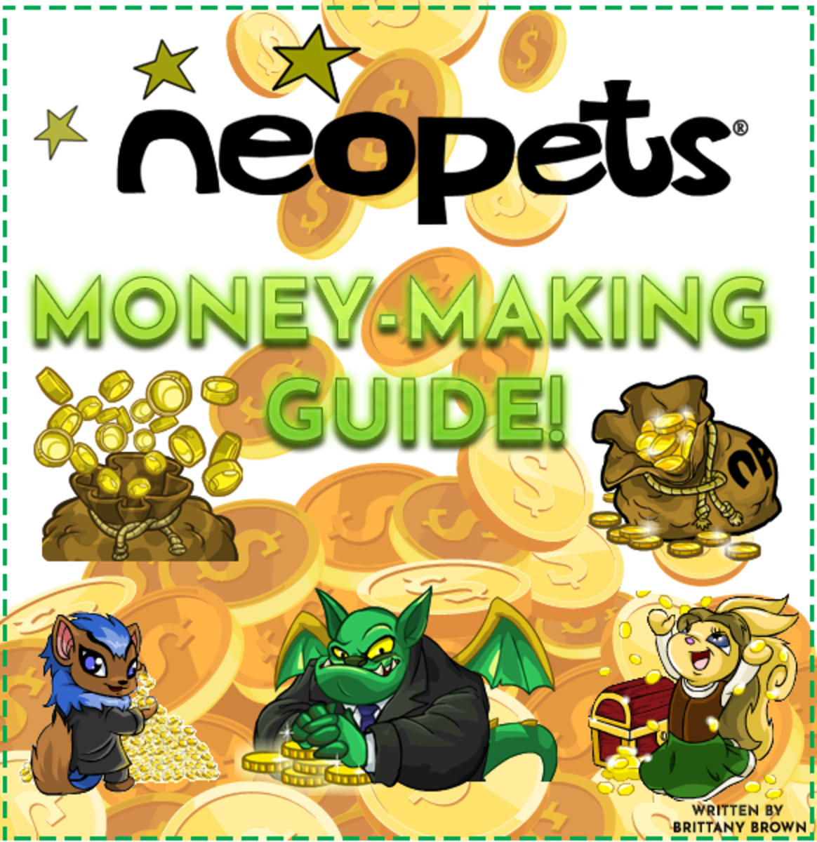 """This """"Neopets"""" Money Making Guide includes tips, tricks, and everything else you need to make lots of neopoints!"""