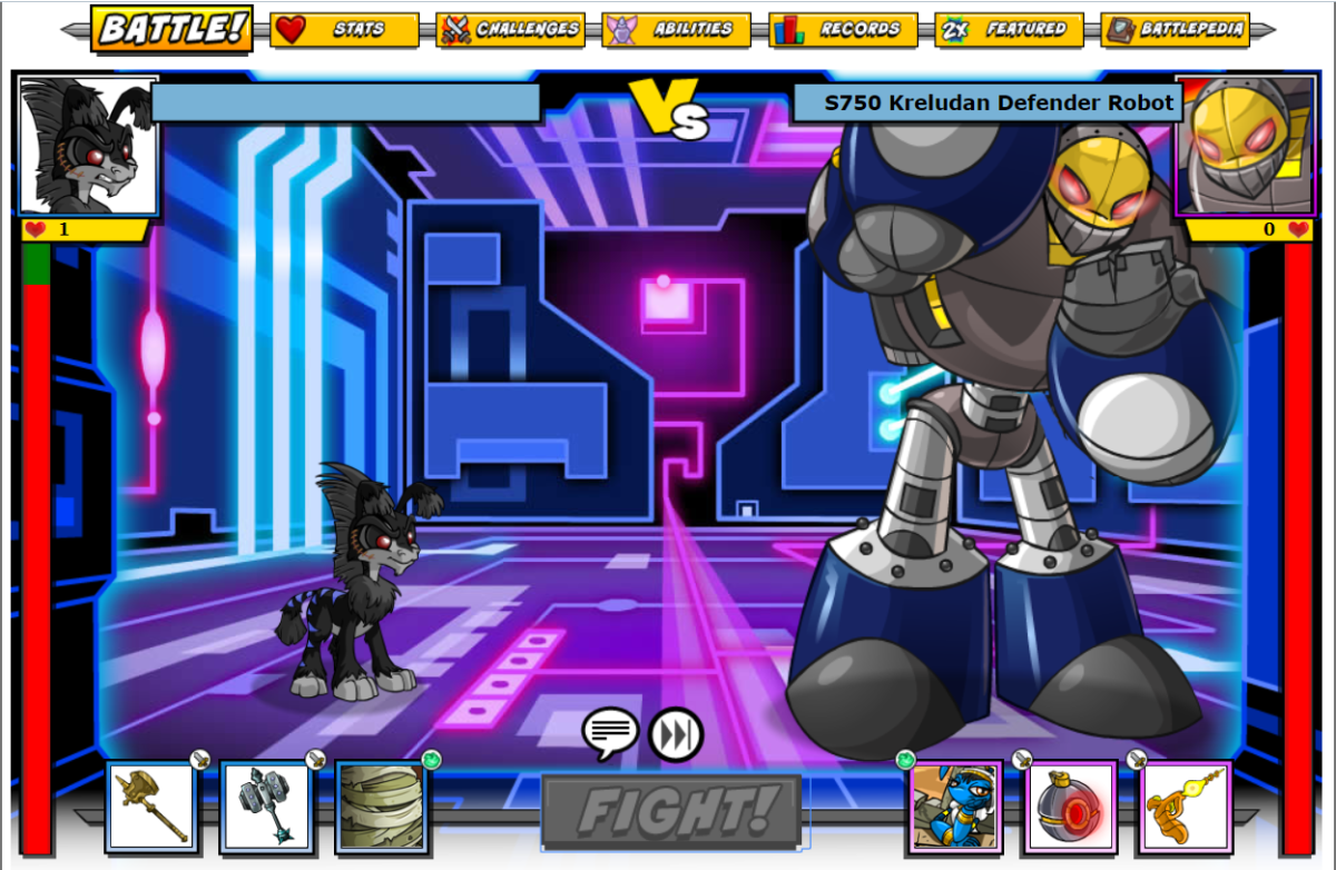 Put your pet in the Battledome and fight against Neopia's enemies to win prizes and neopoints!
