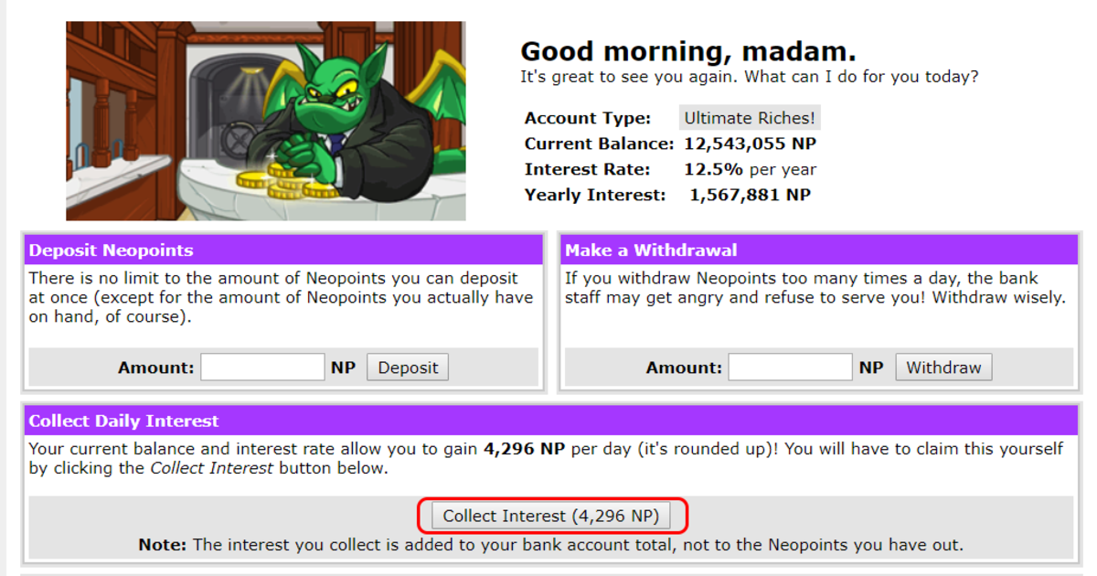Yes, this is my actual bank account!  I can collect 4K in interest alone per day!