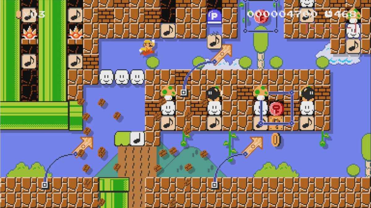 A screenshot from Super Mario Maker 1