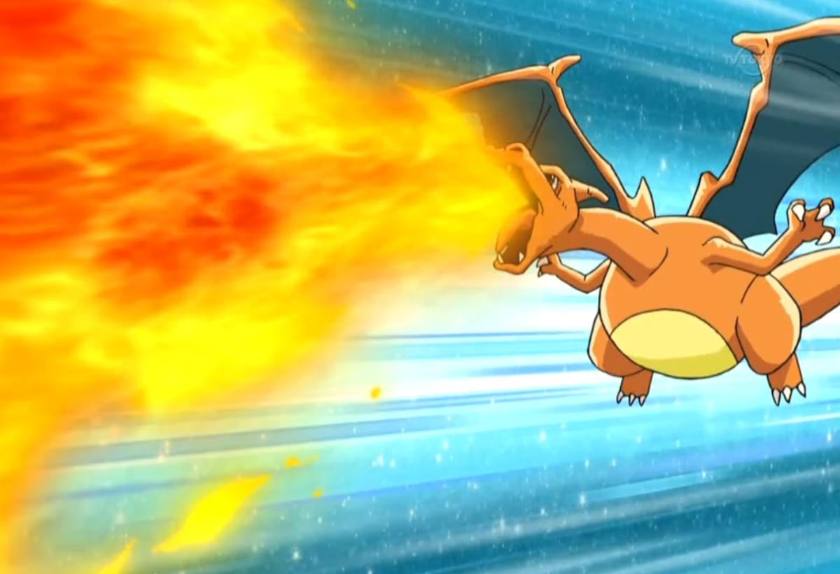 Charizard using Flamethrower