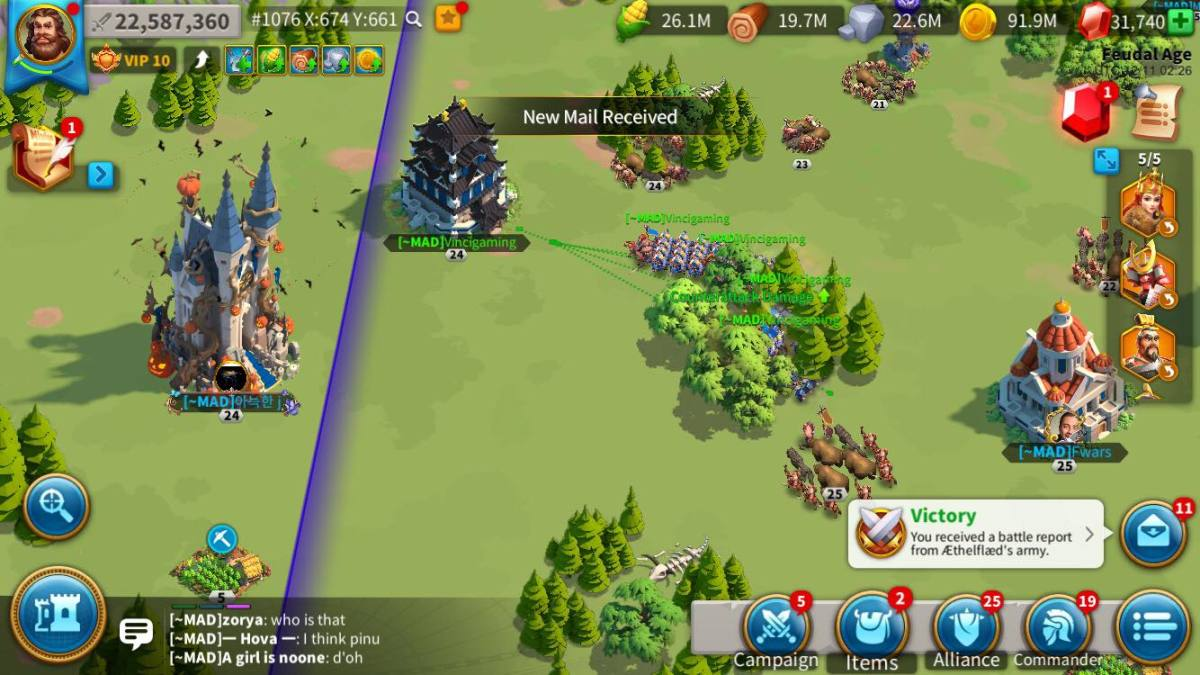 "Playing ""Rise of Kingdoms"" in my iOS"