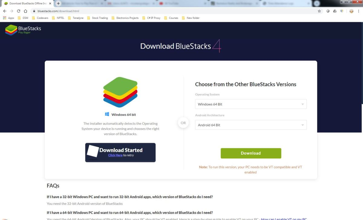 BlueStacks Download Page