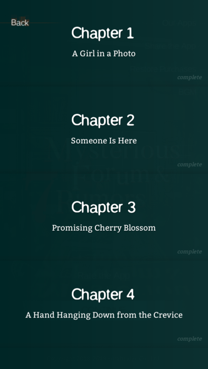 The first four chapters—after being completed.
