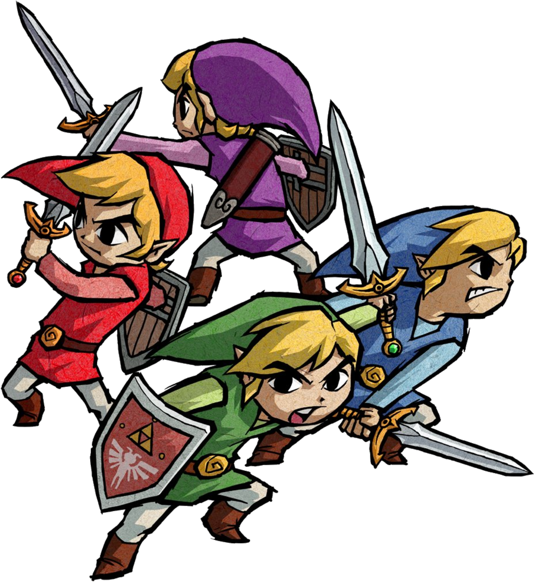 Link's Four Sword Forms