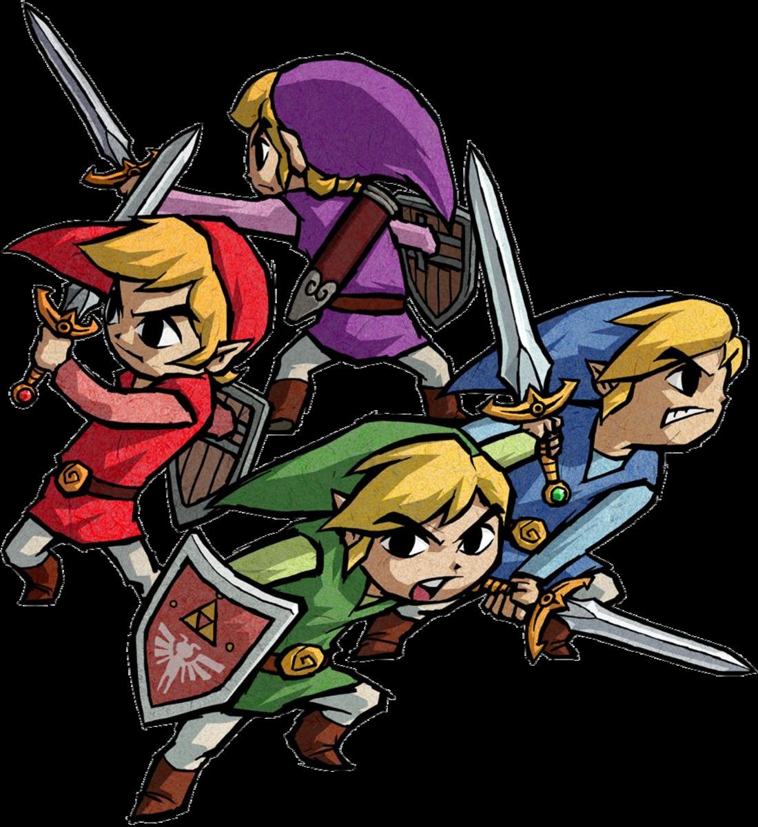 Link's Four Sword Forms