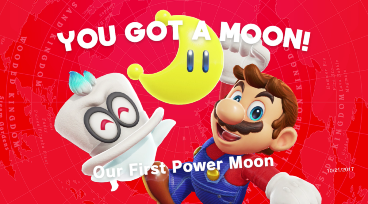 Moons, the game's primary collectible, are around every corner.