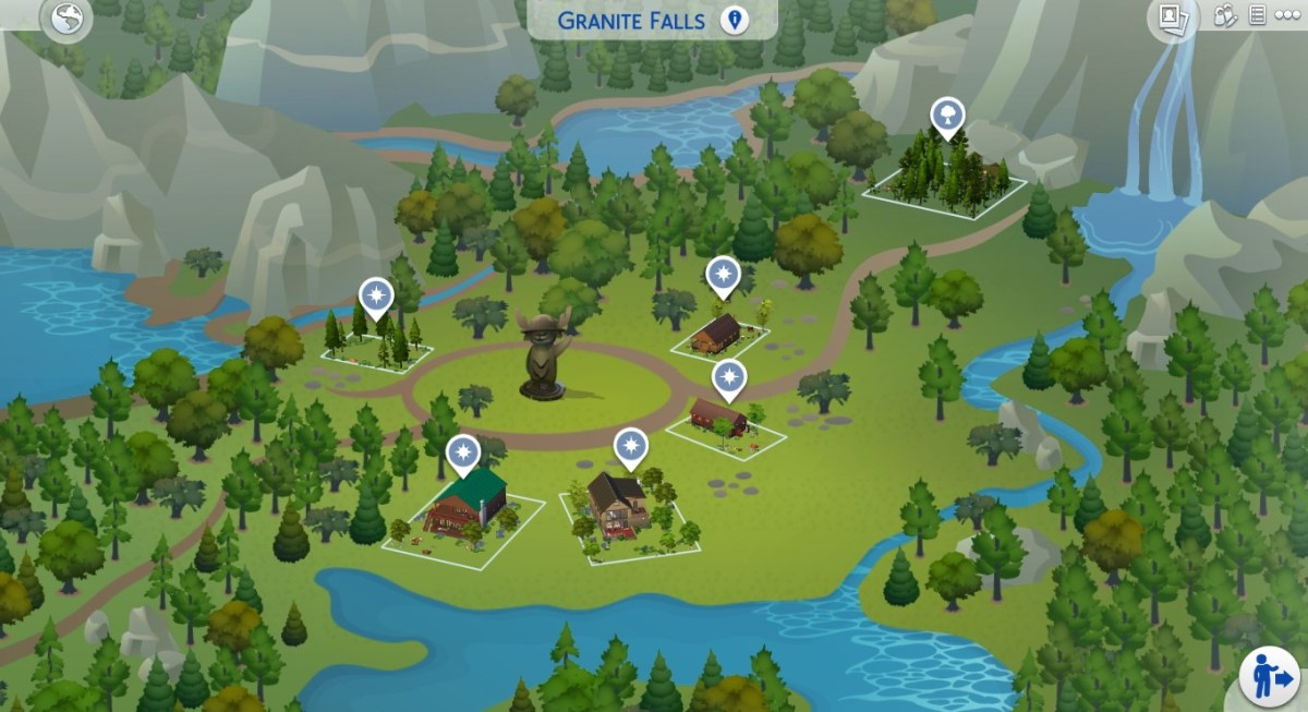 """Welcome to Granite Falls. This is the new destination spot in """"The Sims 4: Outdoor Retreat."""" It's so beautiful you might want to move your Sims in permanently, but unfortunately they can only visit."""
