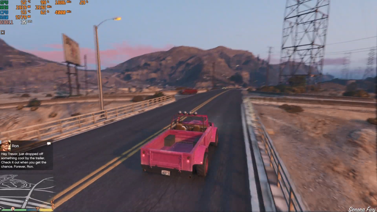 "Benchmarking ""GTA V"" with the Intel Core i3-9100F"