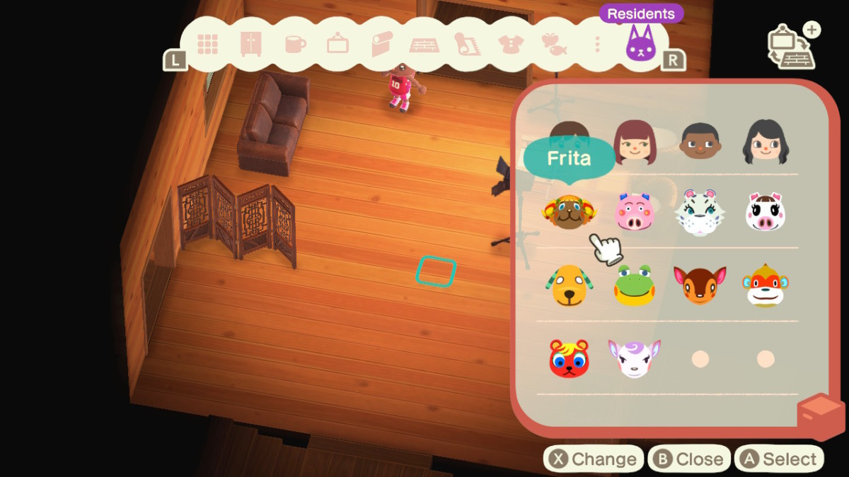 Selecting and inviting villagers to play in Photopia is easy!