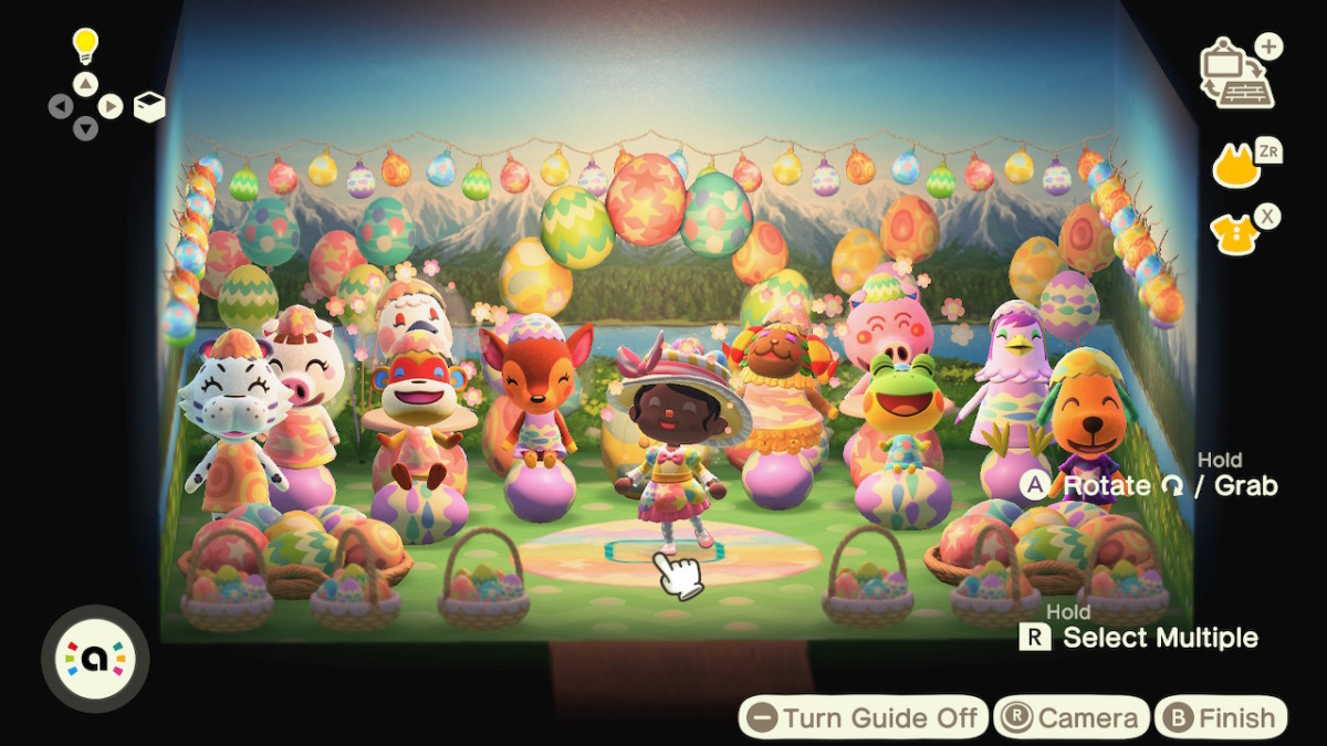 A Bunny Day greeting I made with my villagers at the time!