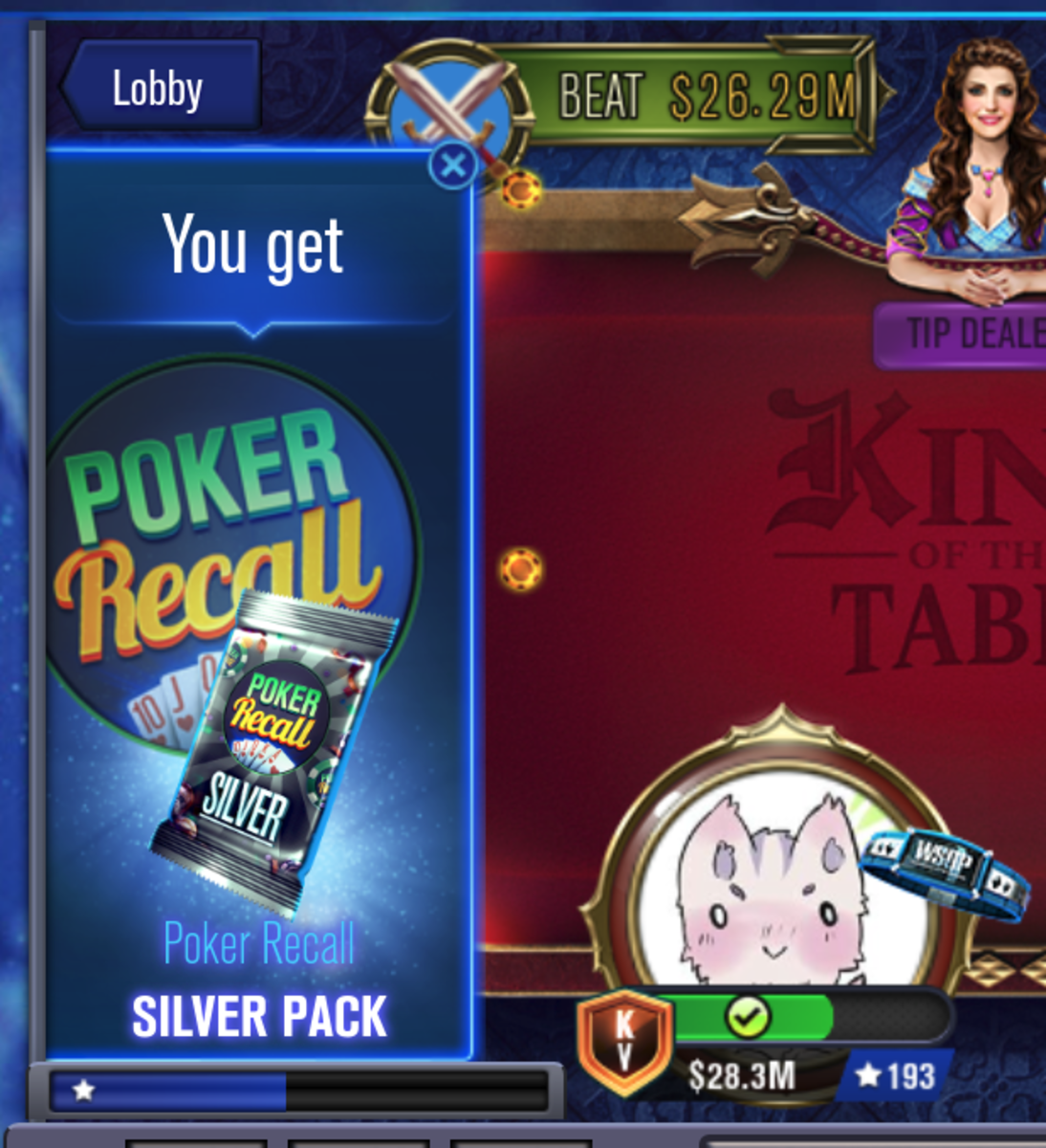 I collected a Poker Recall card pack.