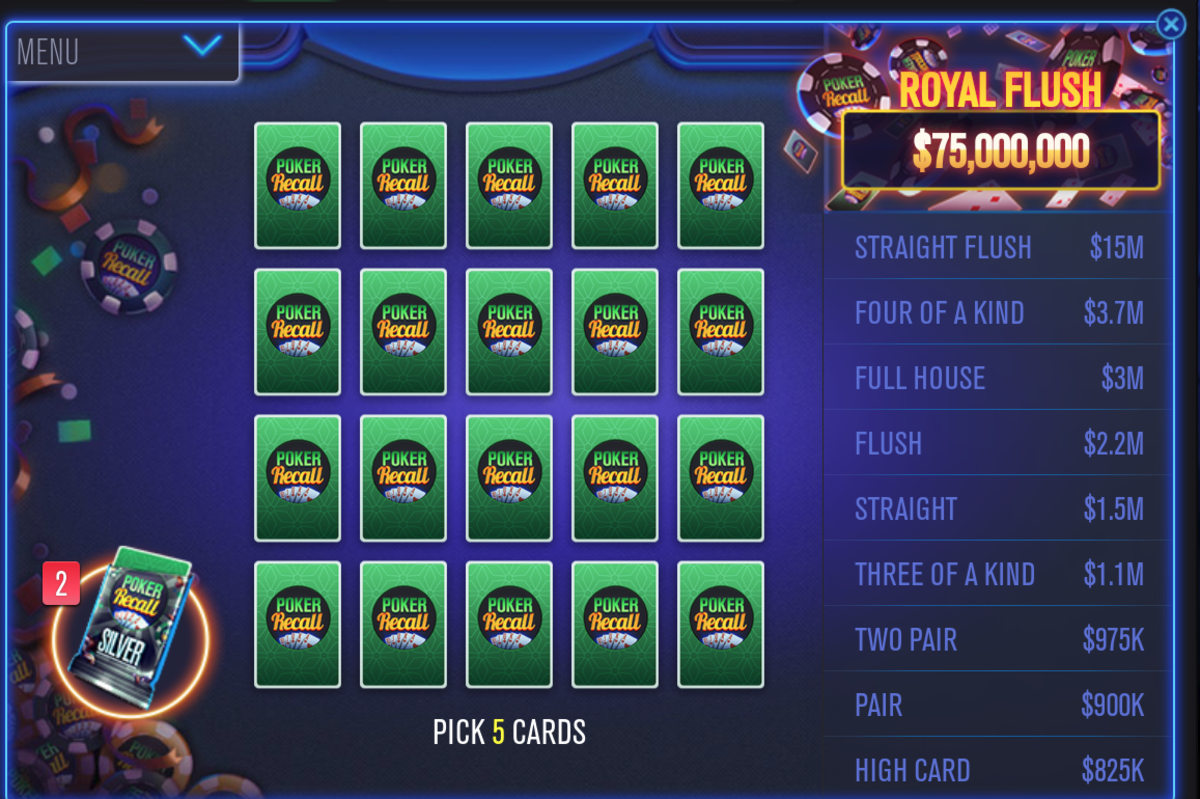 I need to pick five cards.