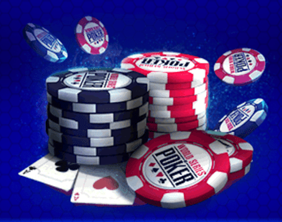"""A pile of chips from """"WSOP""""."""