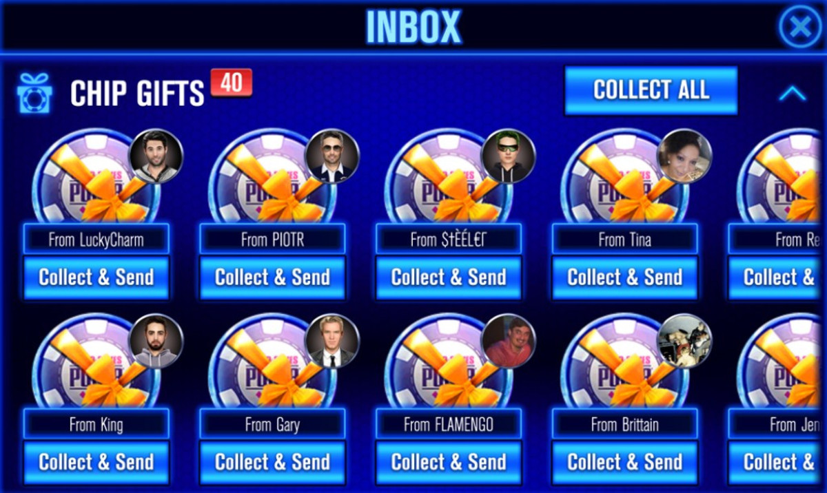 You can collect chip gifts from friends.