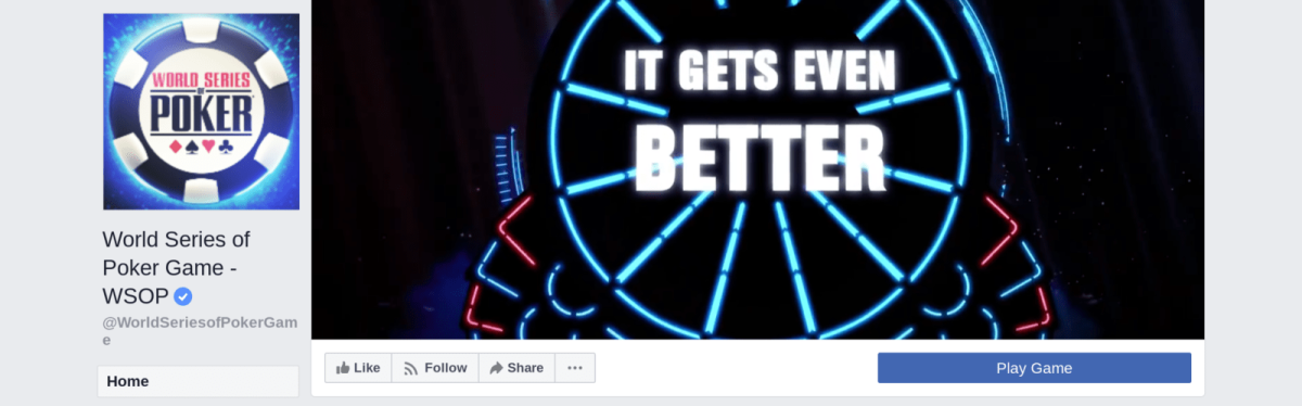 "The ""WSOP"" Faecbook page."