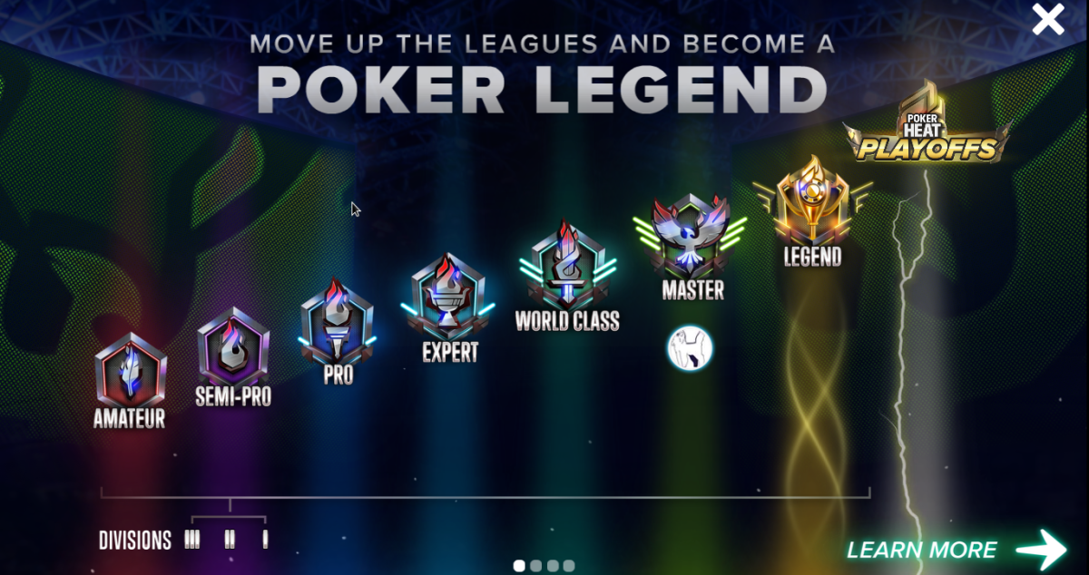 "The current ""Poker Heat"" leagues."