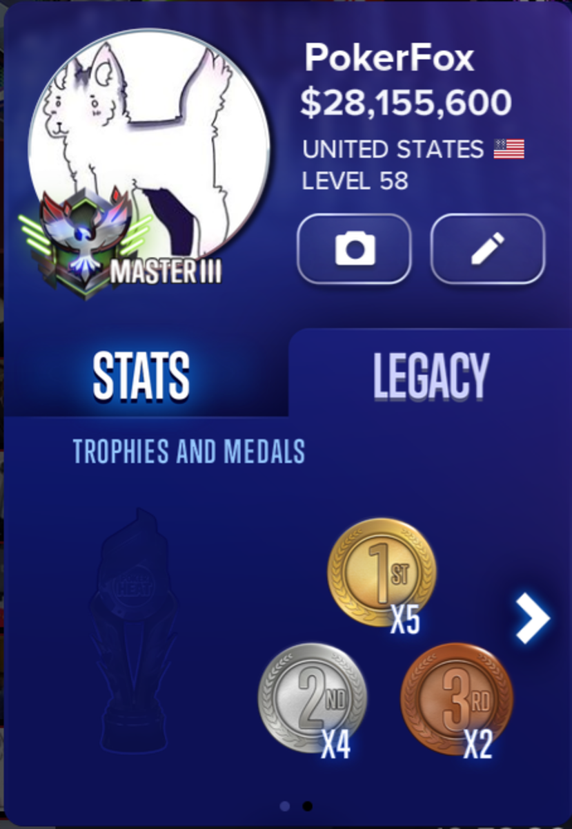 My legacy stats.