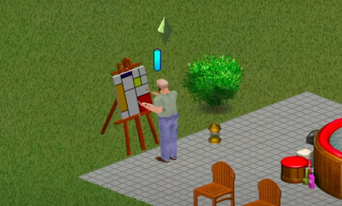 Bob Newbie making fat stacks with his paintbrush.