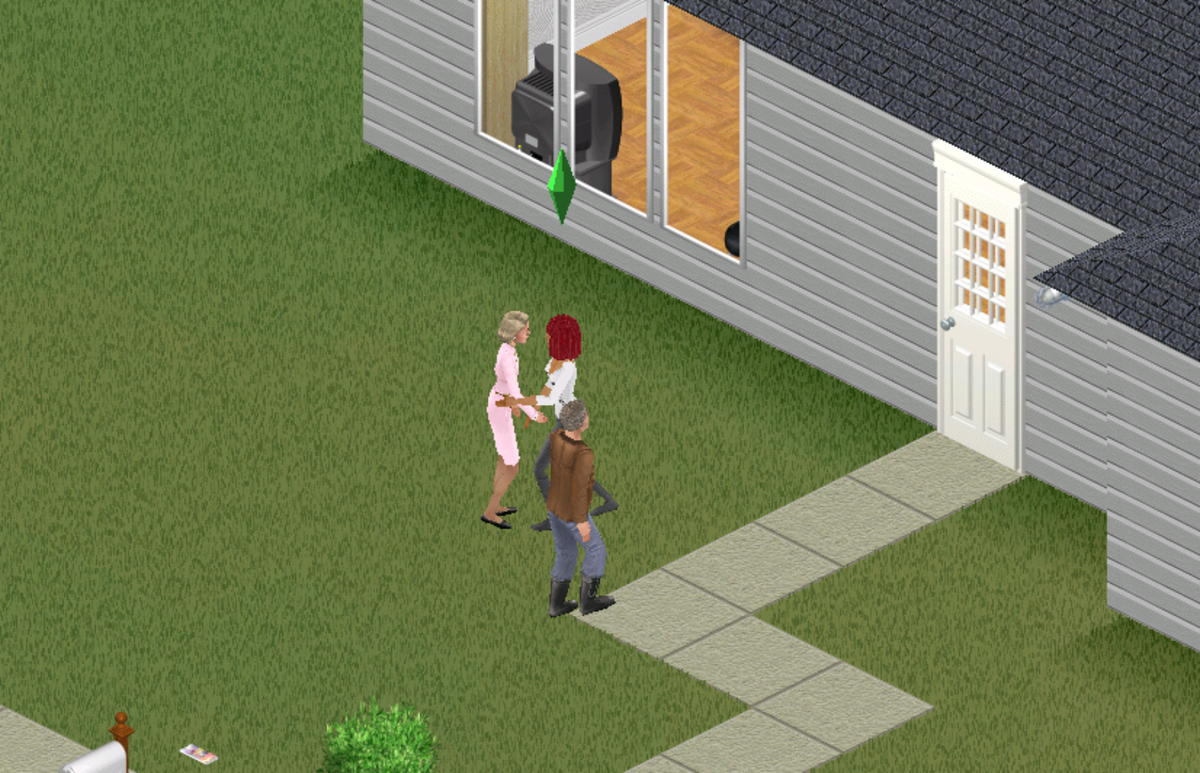 My Chore Sim greeting her new neighbours, the Burbs.