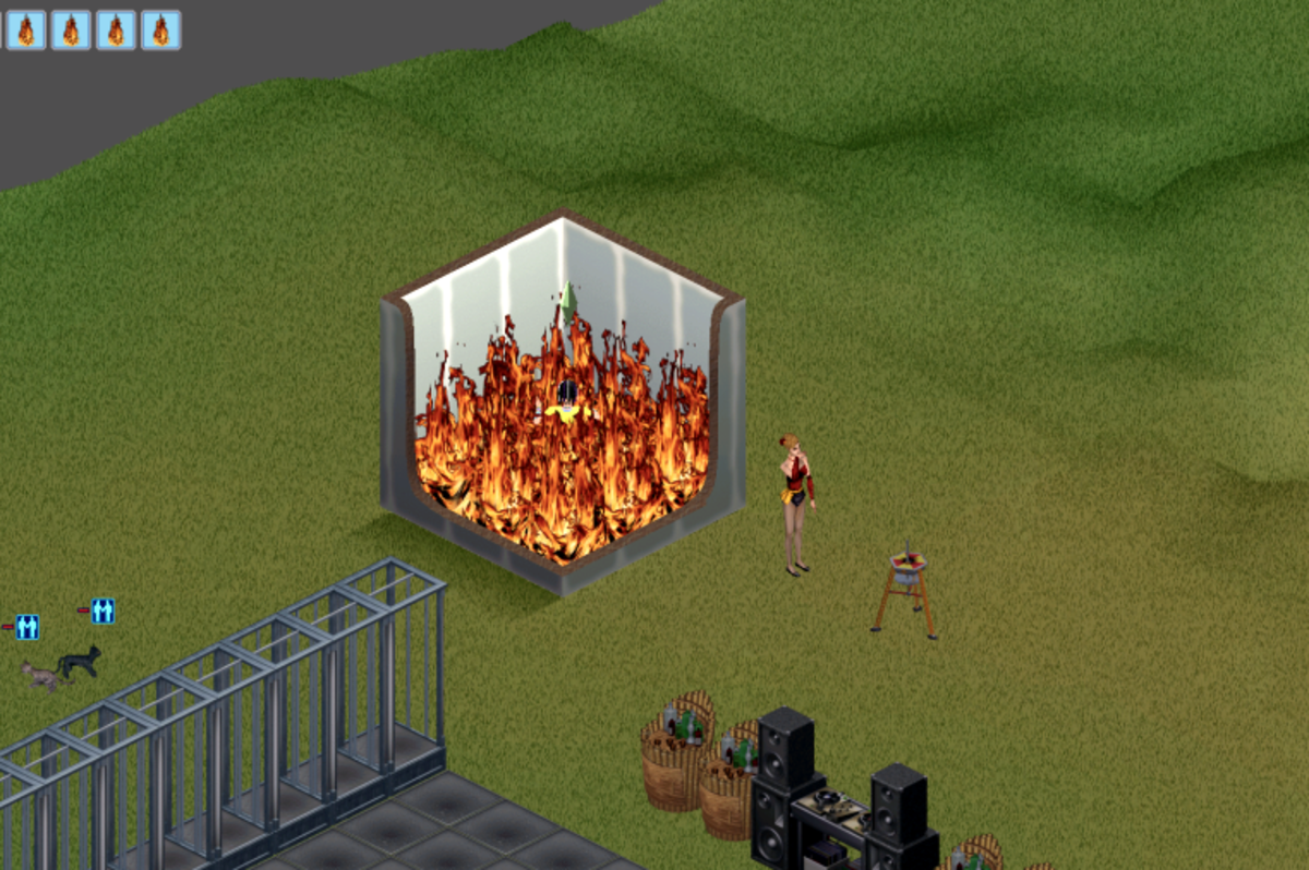 """How many games of """"The Sims"""" have ended up."""