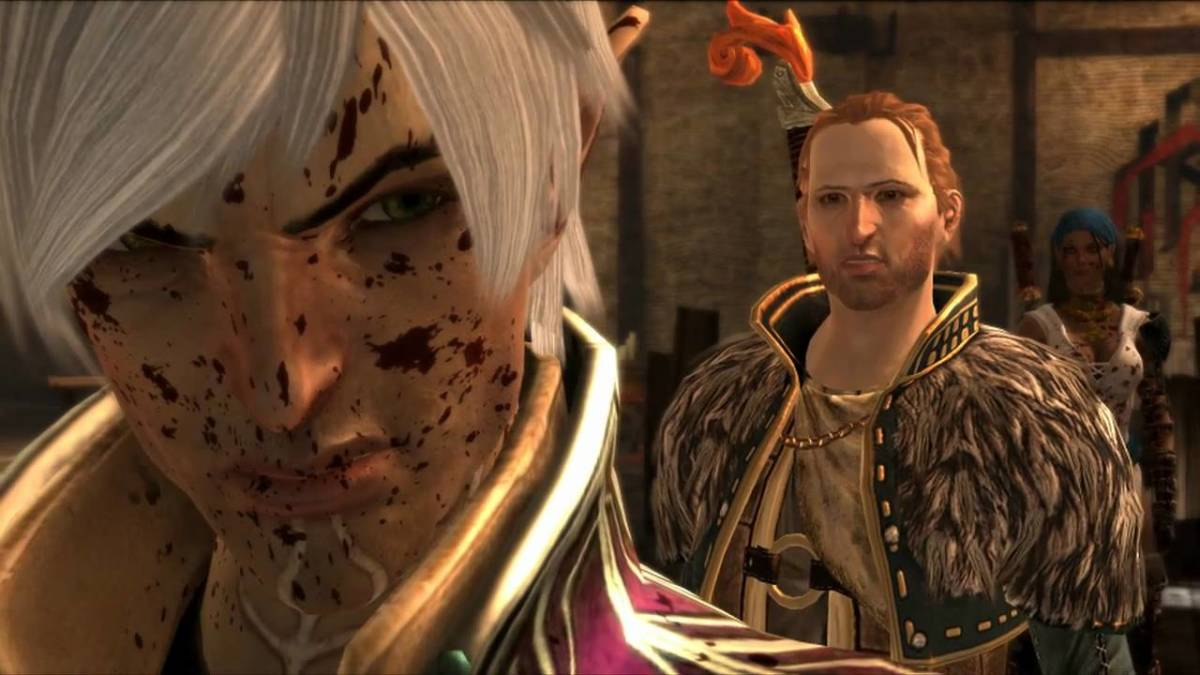 Anders accuses Fenris of being jealous of his mage sister.