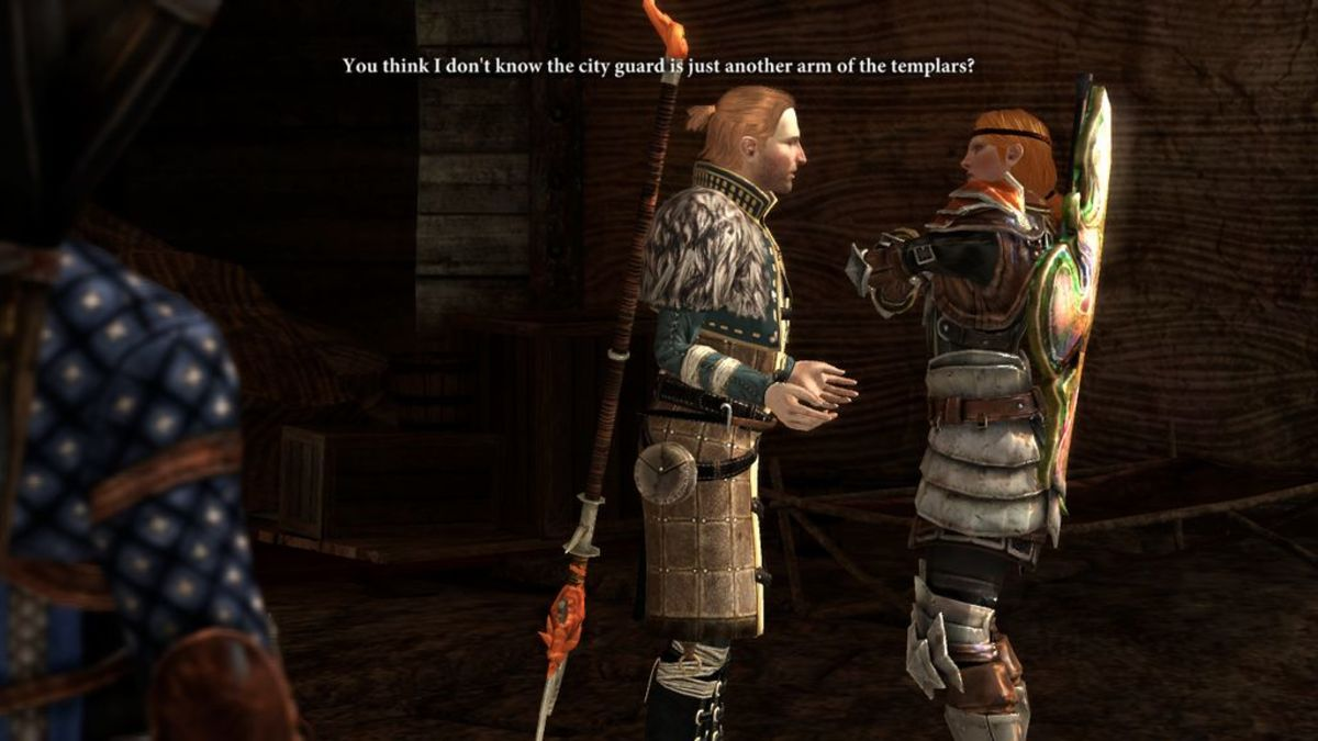 Anders and Aveline argue.