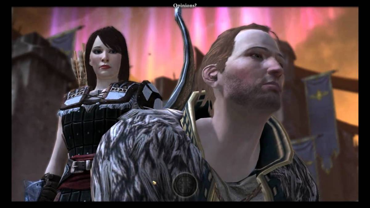 Anders waits for Hawke to kill him.