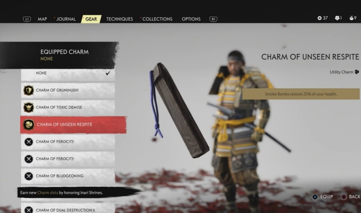 There are dozens of charms you can collect in Ghost of Tsushima