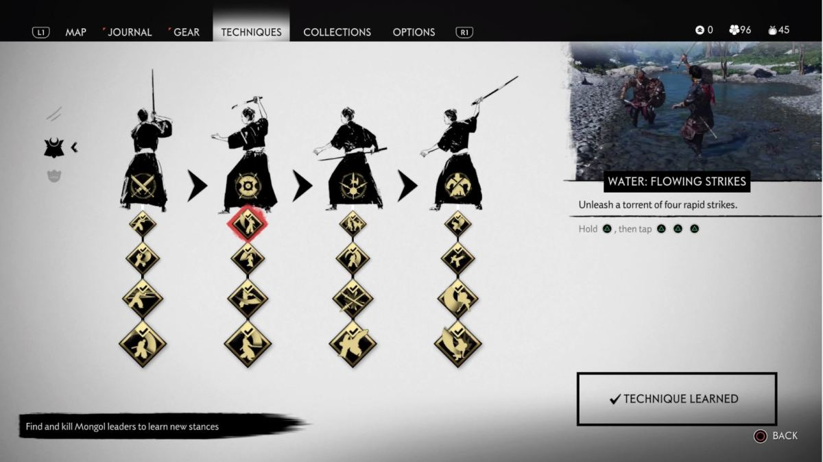The different Stances in Ghost of Tsushima
