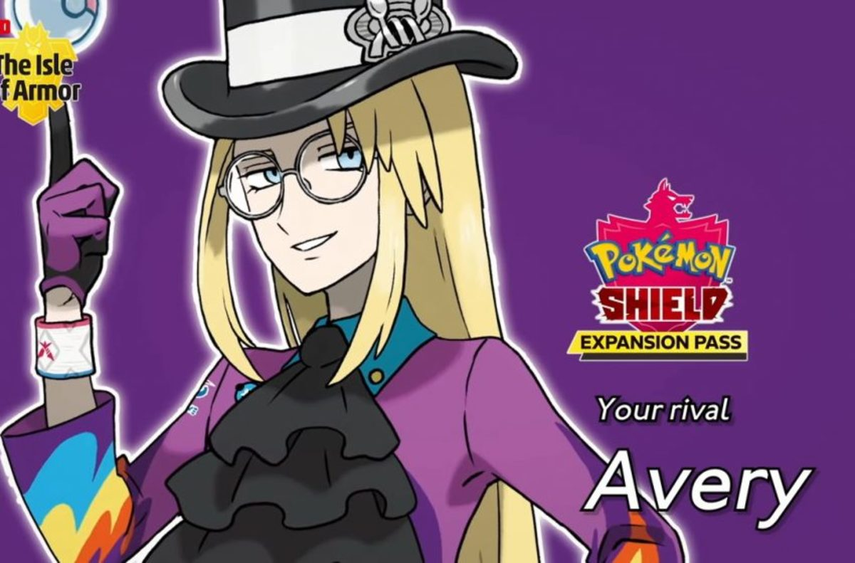 "Avery, the rival you challenge in ""Pokémon Shield""."