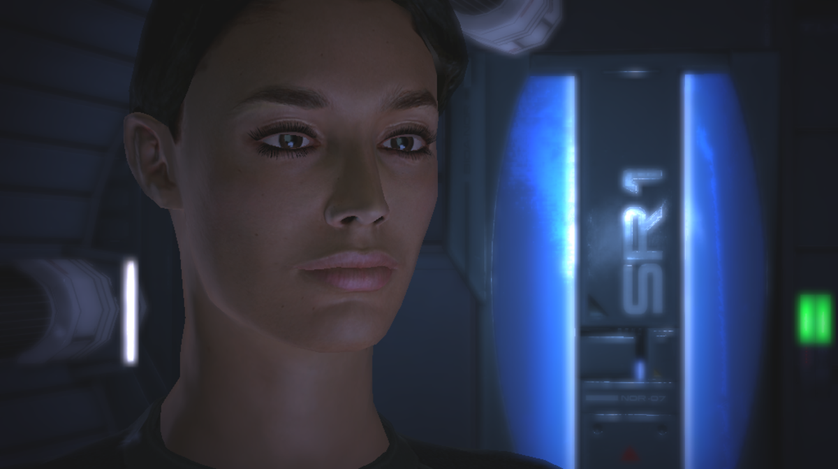 """Ashley as she appeared in the first """"Mass Effect."""""""