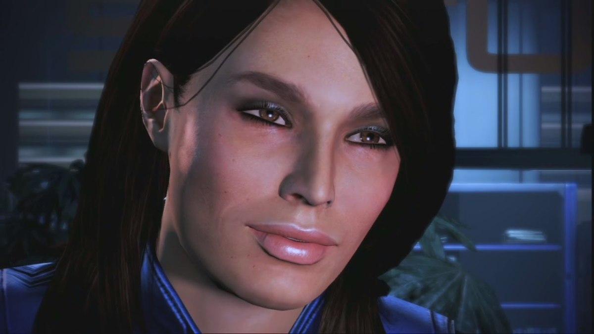 Ashley smiles.
