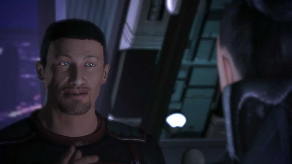 "Shepard confronts Terra Firma in ""Mass Effect."""