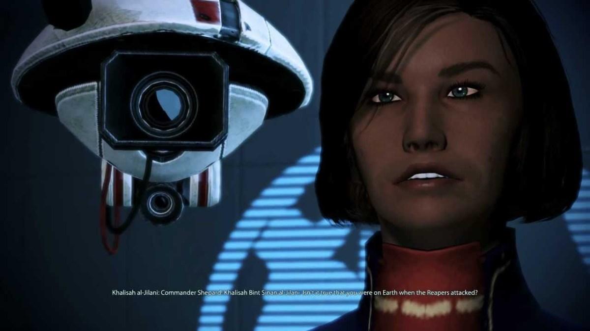 """Khalisah as she appeared in """"Mass Effect 3."""""""
