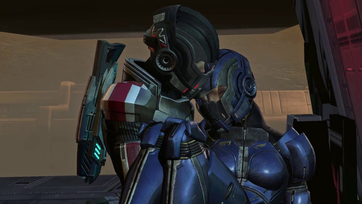"Shepard saves Ashley on Mars in ""Mass Effect 3."""