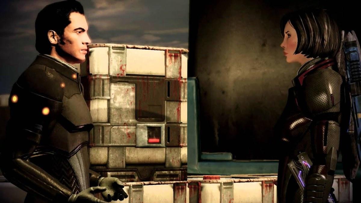 Romanced Kaidan confronts Shepard on Horizon.