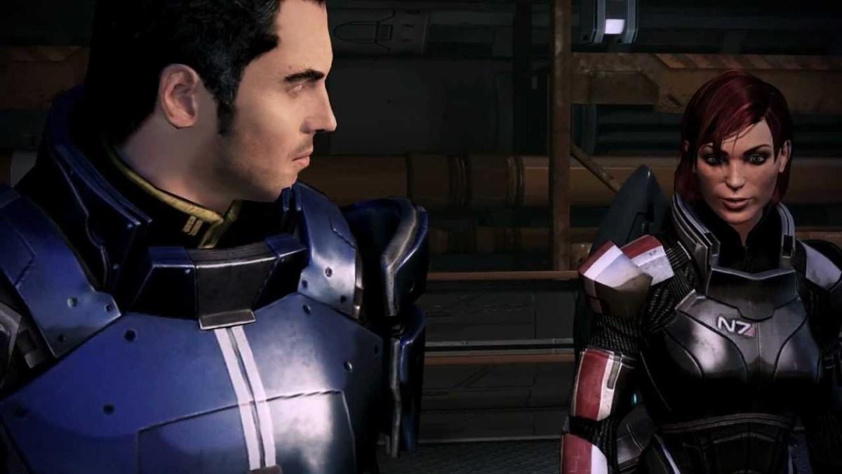 Shepard tells Kaidan to shut up on Mars.