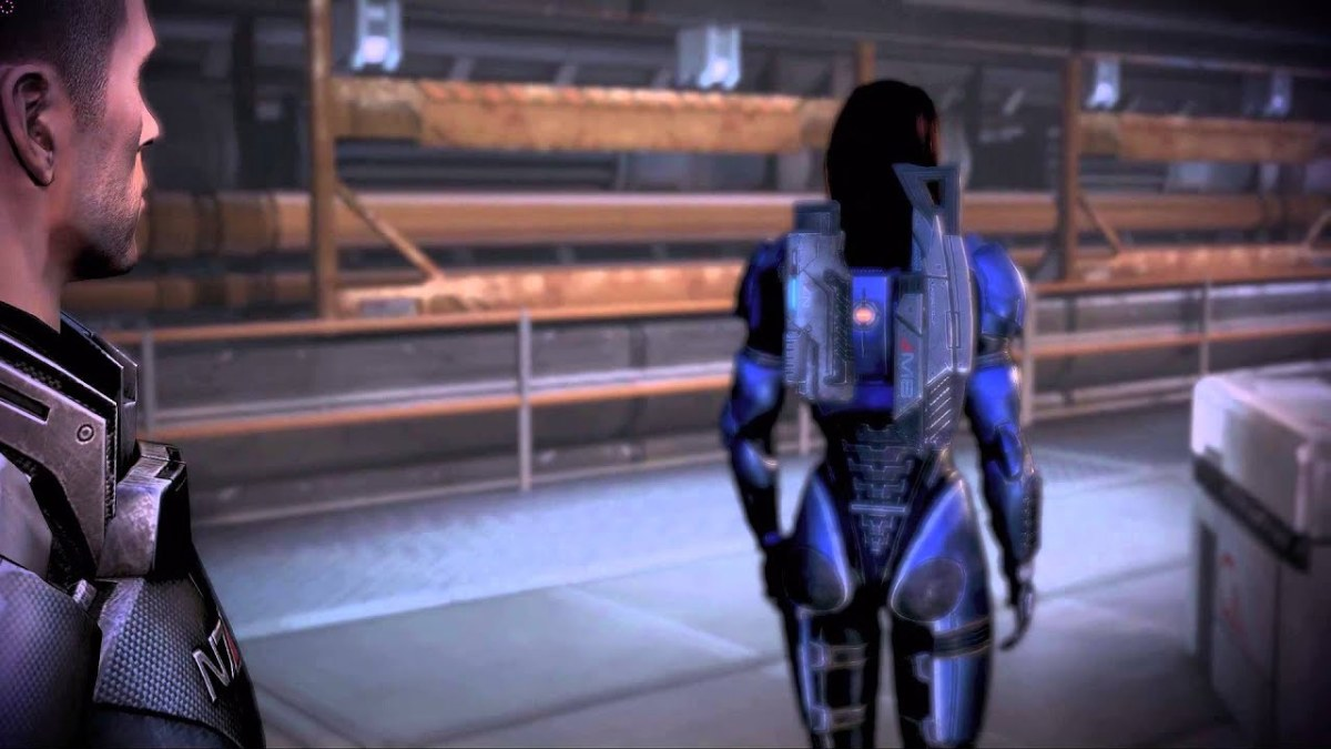Ashley turns her back to Shepard on Mars.