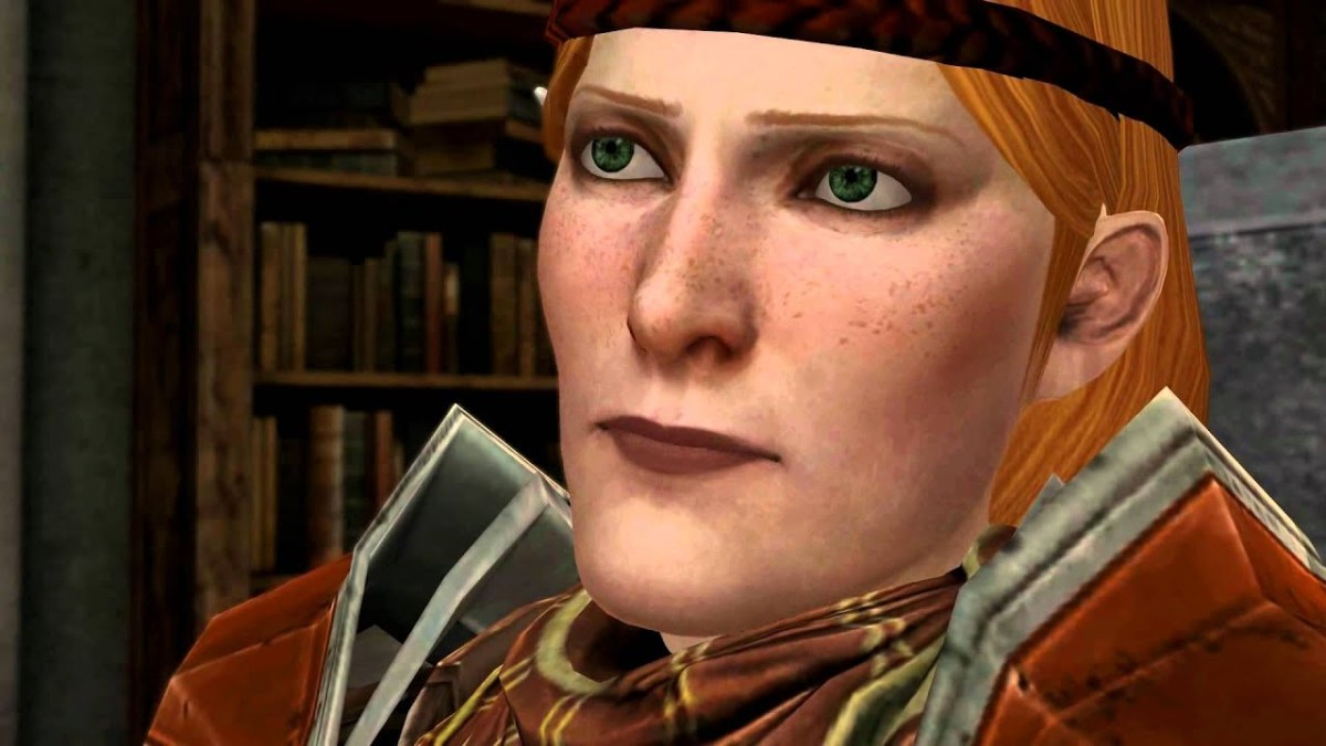 Aveline about to punch Hawke.