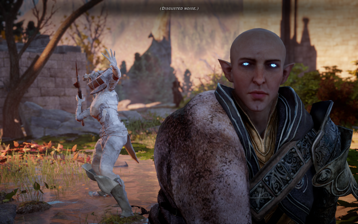 Solas' godlike powers are restored in Trespasser. (What did you do to Flemeth you bastard?)